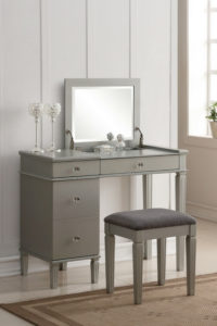 Complete the bedroom of your dreams with a makeup vanity set. Get the furniture you need at the best prices from Furniture7! Leasing options available with 90 day buy out option!
