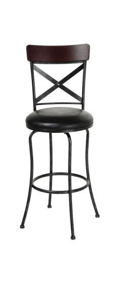 Austin 30-Inch Barstool with Upholstered Swivel Seat