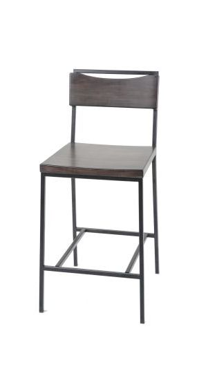 Columbus 26-Inch Metal Counter Stool with Wooden Seat