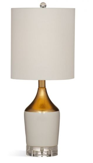 Joselyn Table Lamp in White  & Gold Leaf