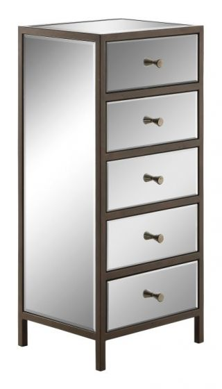 Marquis Vertical Cabinet in Mirrored