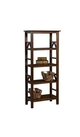 Titian Wall Bookcase in Antique Tobacco