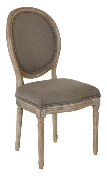 Lillian Oval Back Chair in Klein Otter