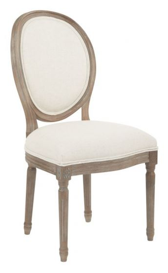 Lillian Oval Back Chair in Linen