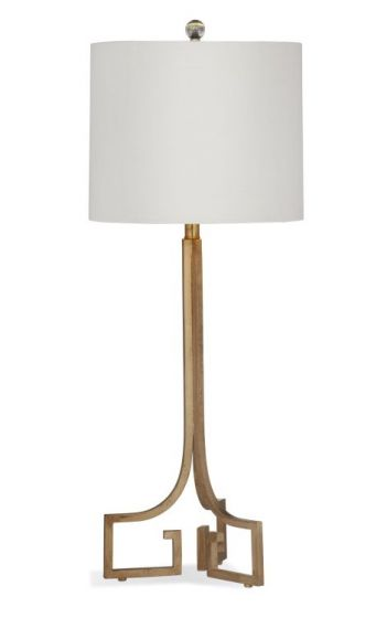 Delphine Table Lamp in Gold Leaf