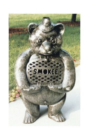 Smokee Bear Cast Aluminum Chimenea Sculpture