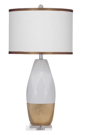 Parkton Table Lamp in White & Gold Leaf