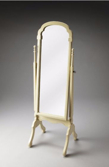 Meredith Cottage White Cheval Mirror