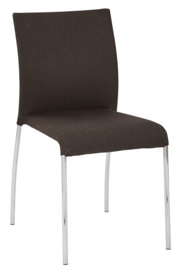 Conway Stacking Chair in Chocolate