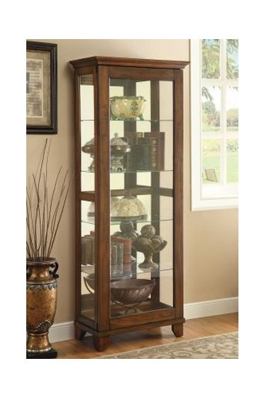 Curio Cabinet with 5 Shelves in Warm