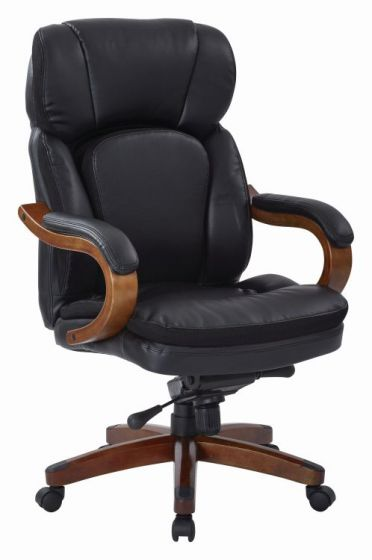 Van Buren Knee Tilt Executive Chair in Black