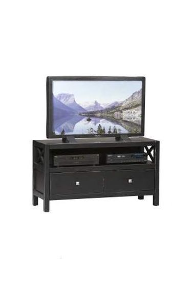 Anna 44'' TV Stand in Distressed Antique Black