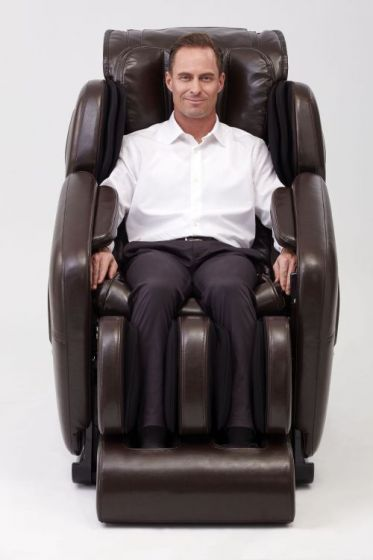 Deluxe Heated L-Track Massage Chair Zero Gravity in Expresso