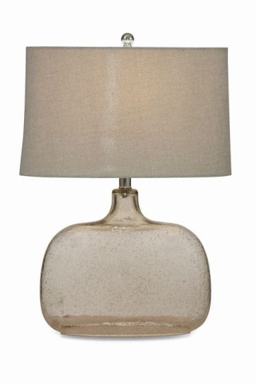 Portman Table Lamp  in Clear Seeded Glass