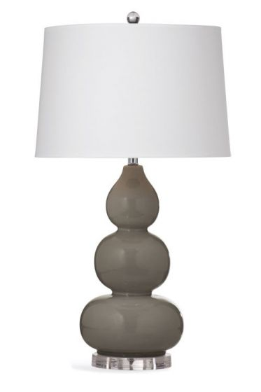 Hawley Table Lamp in Light Grey Crackle