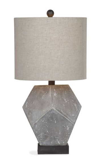 Wallace Table Lamp in Cement Finish