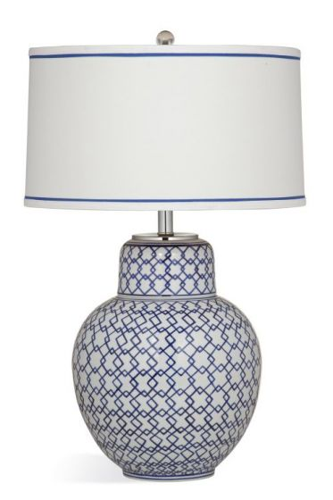 Emilia Table Lamp in Blue & White