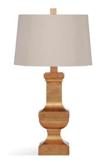 Alexis Table Lamp in Antique Gold Leaf