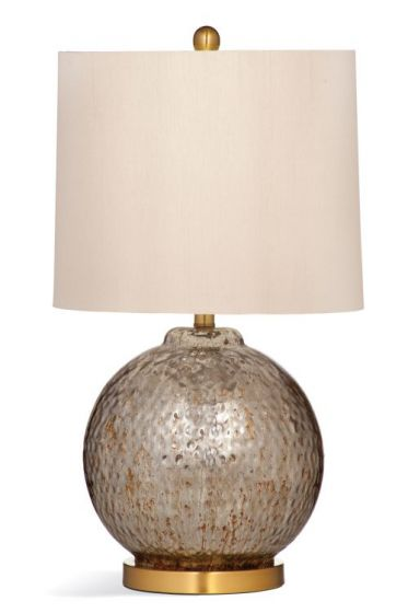 Cailla Table Lamp in Smoke Grey Glass
