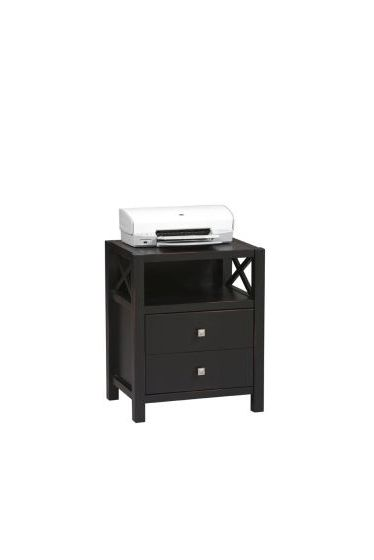 Anna Storage End Table in Distressed Antique Black