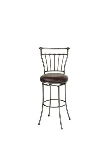 Topeka 26' Metal Stool with Upholstered Swivel Seat