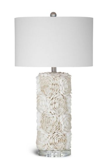 Shell Table Lamp - Cream in