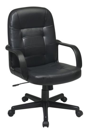 Bonded Leather Executive Chair in Black