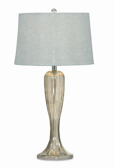 Gable Table Lamp  in Shaped Glass