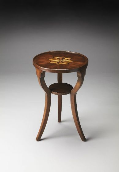 Dalton Plantation Cherry Round Accent Table