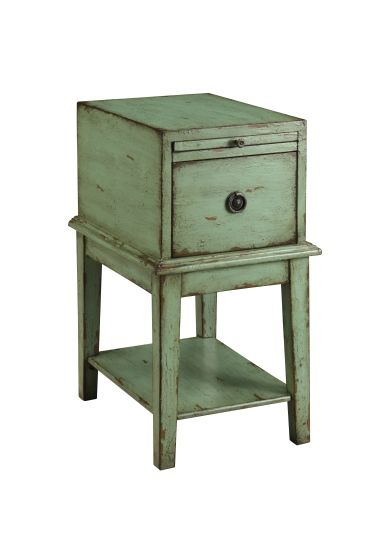 One Drawer Chest in Bayford Weathered Green