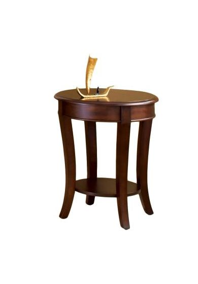 Troy End Table Warm Cherry Finish