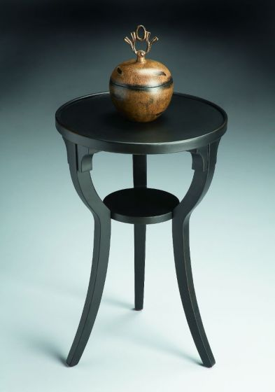 Dalton Black Licorice Round Accent Table