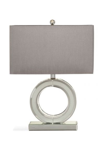 Simone Table Lamp in Clear Mirror
