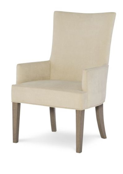 Highline Upholstered Host Chair In Greige