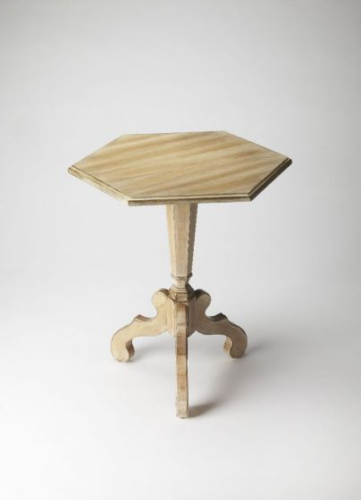 Corbin Driftwood Hexagonal Accent Table