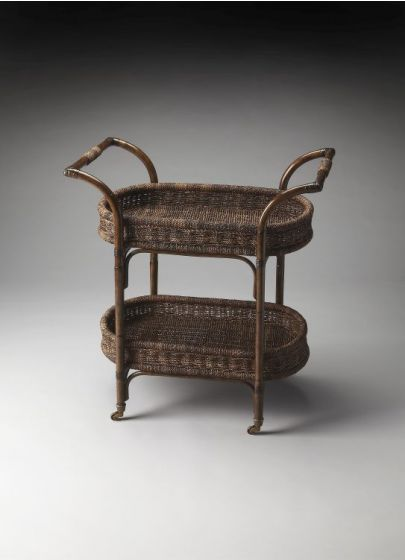 Fiji Rattan Serving Cart