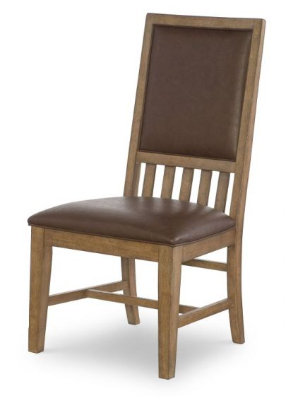 Metalworks Uph Back Side Chair In Factory Chic