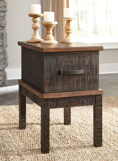 Stanah Chair Side End Table in Two-tone