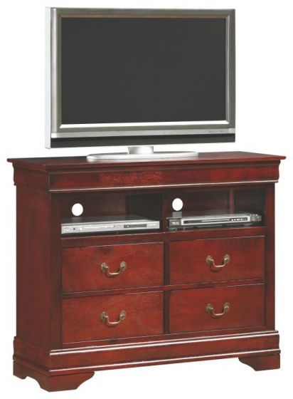 Media Chest with 4 Dovetailed Drawers in Cherry