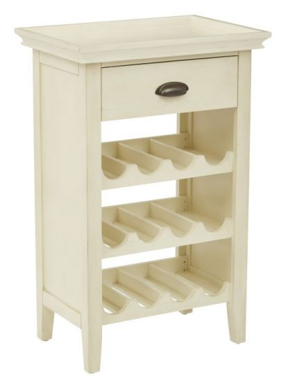 Portofino Wine Cabinet in Antique Beige