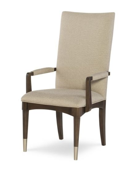 Soho Upholstered Back Arm Chair In Ash