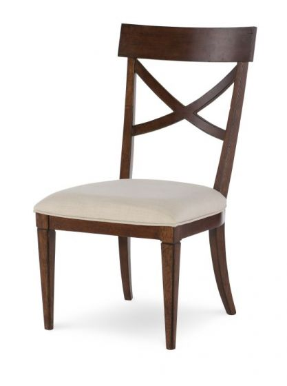 Upstate X-Back Side Chair In Conciare