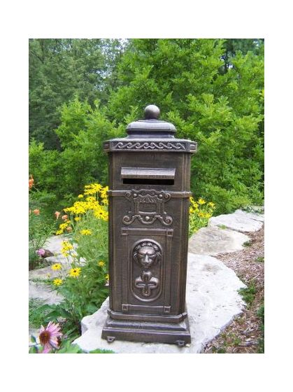 Kensington Decorative Mail Box - Cast Aluminum