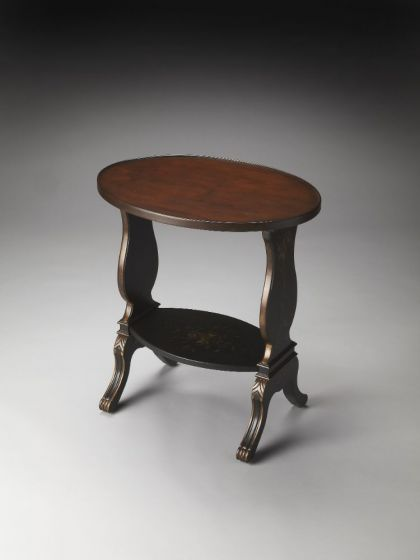 Briar Regal Black Hand Painted Accent Table