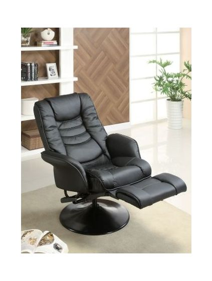 Ginny's Black Leatherette Recliner Chair