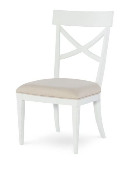 Upstate X-Back Side Chair In Bianco