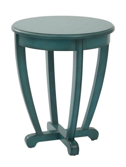 Tifton Round Accent Table in Blue