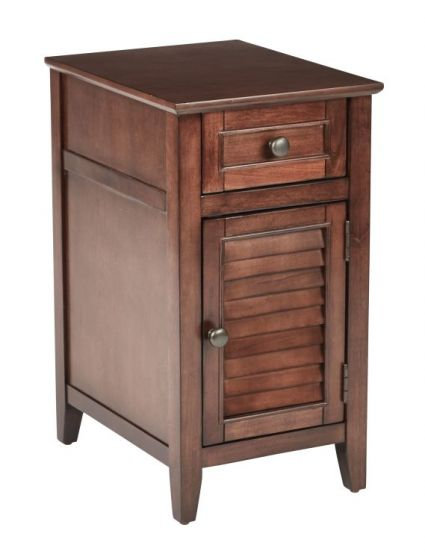 Brooke Chair Side Table in Chestnut