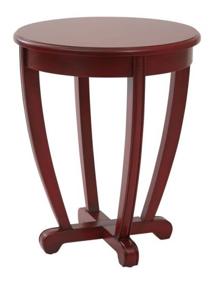 Tifton Round Accent Table in Red