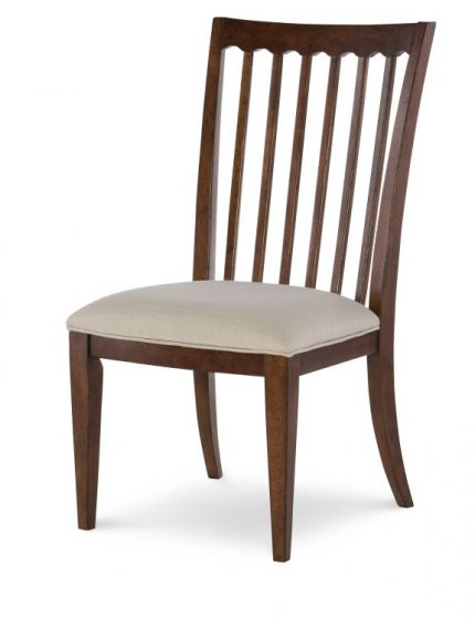 Upstate Slat Back Side Chair In Conciare